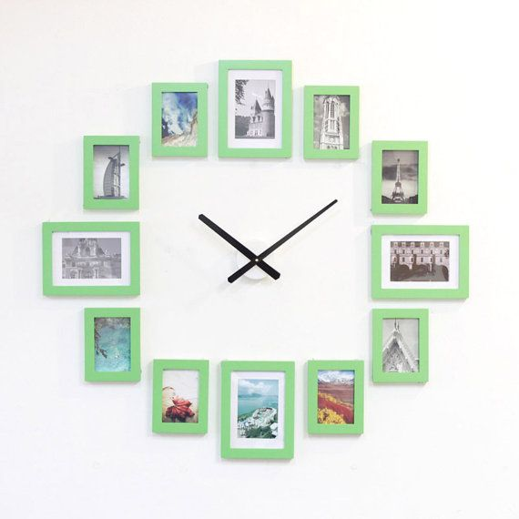 create the perfect picture wall clock in minutes fast and easy material solid pine wood and acrylic front cover not glass clock movement taiwan quartz