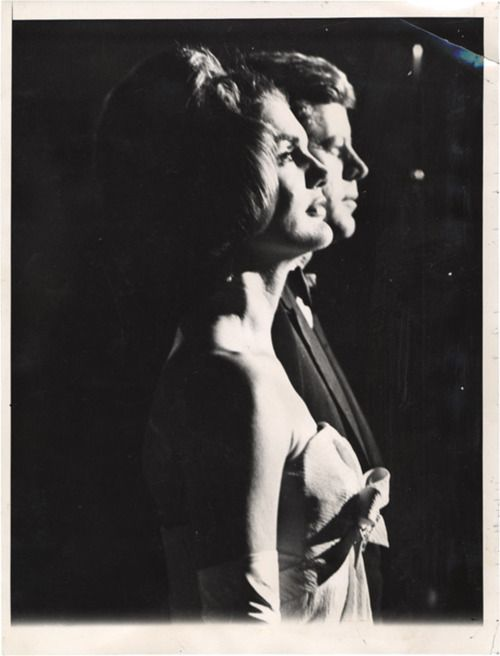 profile shots of mr mrs john f kennedy portrait of