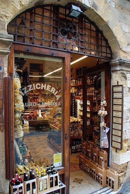 San Gimignano storefront, Italy