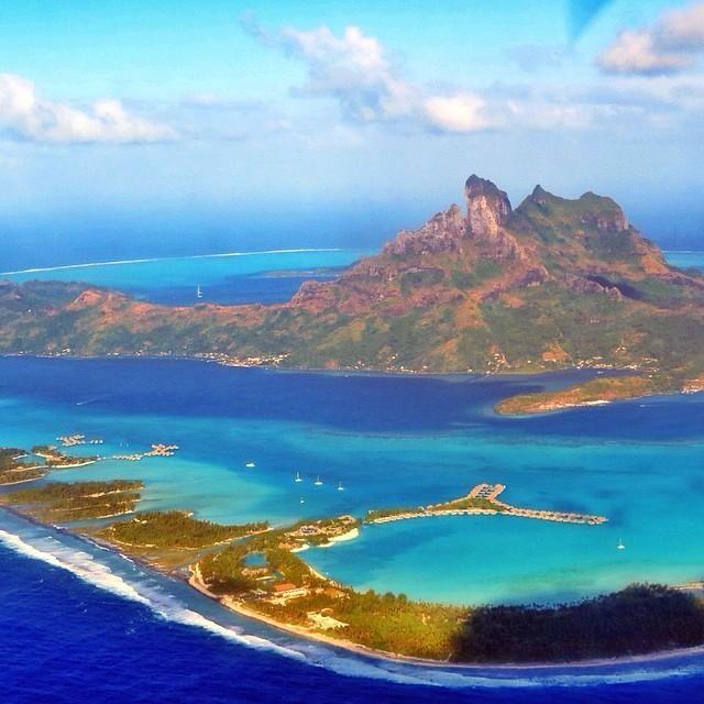 The surreal and beautiful Bora Bora. Photo courtesy of mthiessen on Instagram.