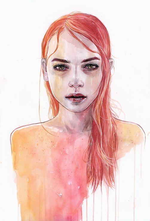 ARTFINDER: Ember by Tomasz Mrozkiewicz - Original watercolor painting