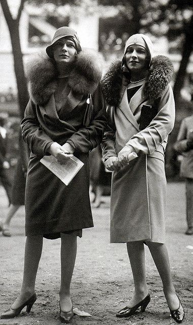 Paris Fashions at the Grand Steeplechase at Auteuil , 1928   (by thefoxling, via Flickr)