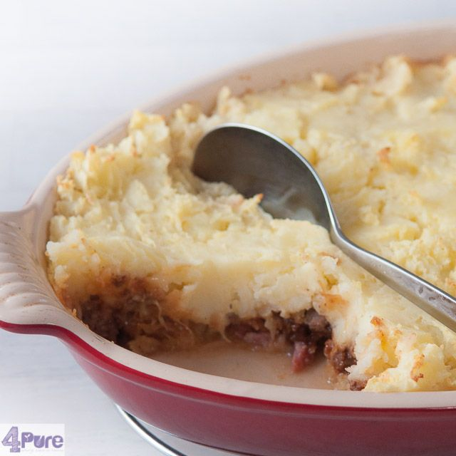 Sauerkraut casserole - English recipe - It's snowing here in Holland. It's cold and very windy. That's the weather when I can enjoy a really great casserole: a sauerkraut casserole. Delicious.