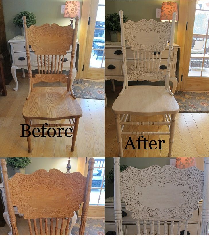Oak Press Back Chair 20 Dollar Score Painted With