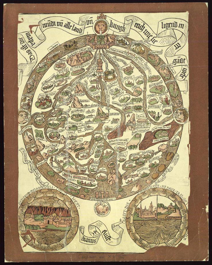 Das ist die Mapamundi und alle Land un Kungkreich wie sie ligend in der ganze Welt, [1480] | Hanns Rust | 1924 | National Library Of Bulgaria | Public Domain Marked