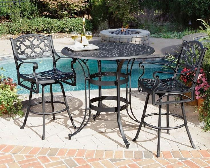 Bar Height Bistro Patio Set Designs Ideas - http://lant.bullpenbrian.com/bar-height-bistro-patio-set-designs-ideas/ : #BarFurniture, #HomeBars Bar height bistro patio set could make a fine furniture design to complete better home and living. They can do more than just a piece of furniture but also a pride. Metal finish such as cast iron is best in featuring bistro style. Black is wonderful to feature real elegance and style. You can...