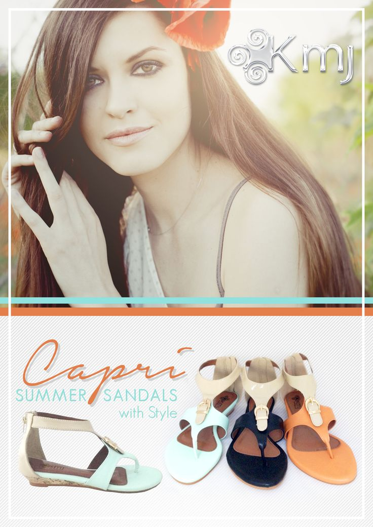 Oh! Capri how we love thee. A new take on European styling. Orange sunset, Ice mint & black caramel will capture your heart. www.kmjshoes.com.au
