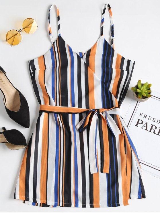 cd266d6d5bc Mini vestido de rayas - Multicolor M