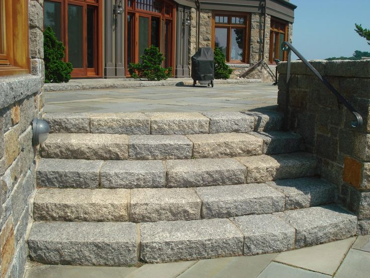 Junior Curbstone Used To Create A Natural Stone Entrance To This Patio.
