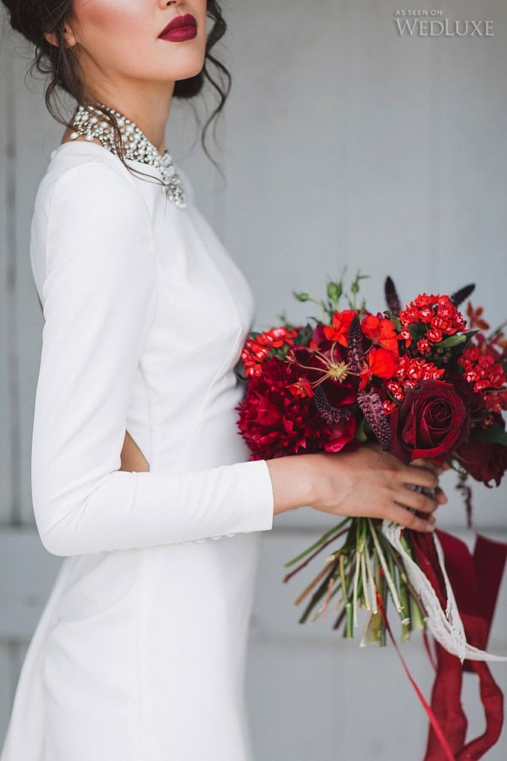 42 best Red, Burgundy, Marsala images on Pinterest | Bridal bouquets ...