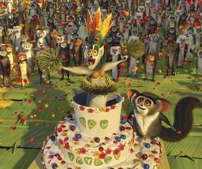 """Madagascar 2 """"Shake it! Oh, I'm a lady. I'm a lady, everyone! I'm a lady...not really it's me, King Julian. Which of you is attracted to me?"""""""