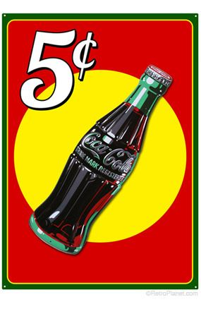 Coke Bottle and Background Sign