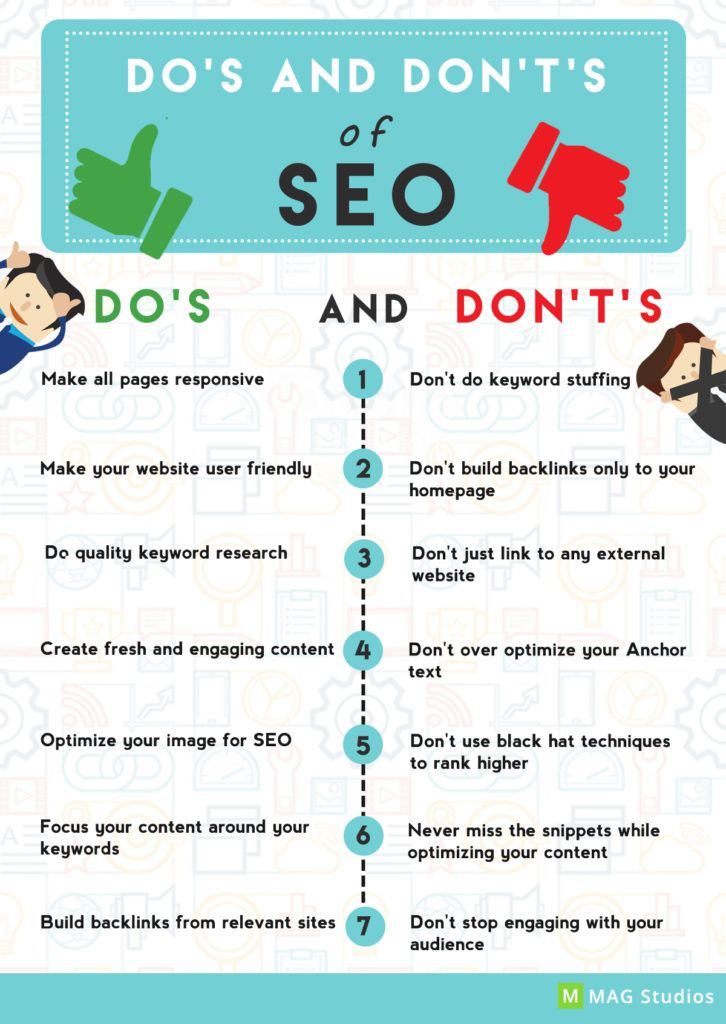 Do your SEO the right way! Know these Do's and Don't's of #SEO and rank higher in the search engines.