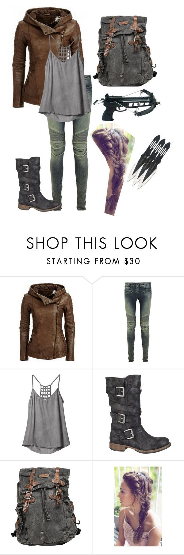 """Post apocalyptic inspired outfit"" by lexi-tolhurst ❤ liked on Polyvore featuring Balmain, RVCA, maurices, Bed