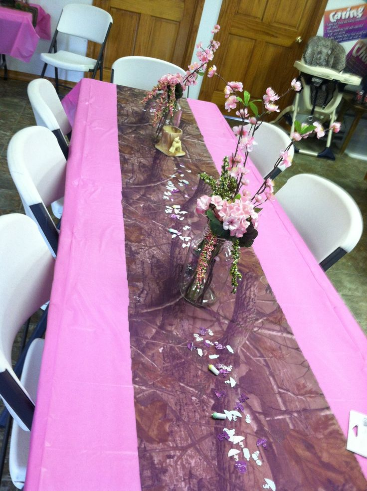 Pink Camo Baby Shower Kassidis Camo Shower Pinterest Camo Birthday Pink Camo Party And