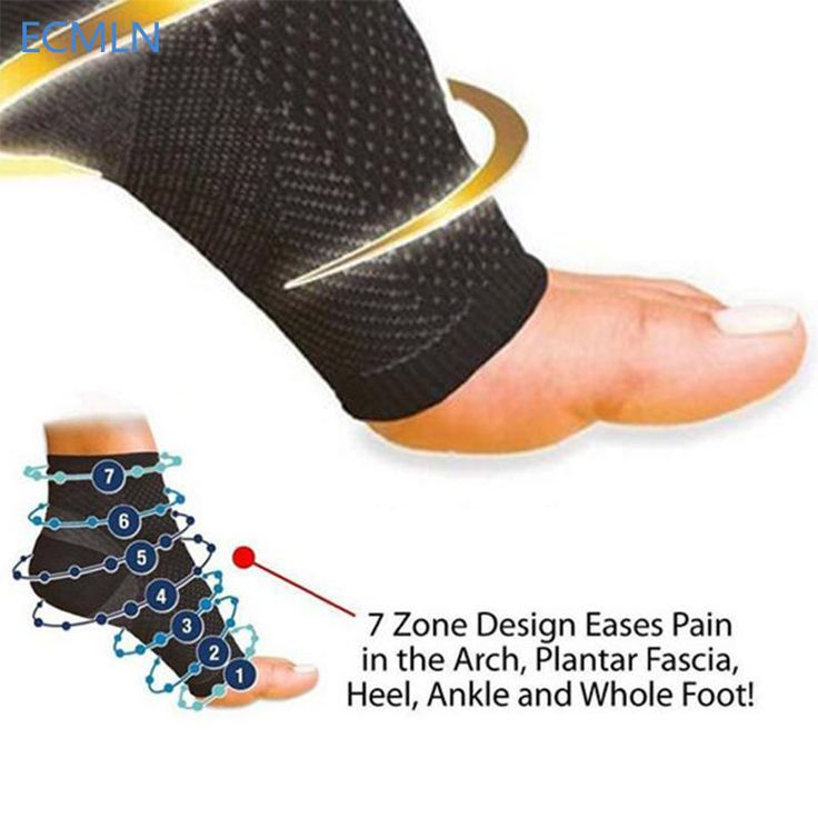 Ankle Compression Sleeve Brace Support Foot Fit Athletics Injury Copper Socks #CopperFit
