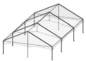 30x50 Complete Keder Track Gable Style 4 pcs (2 Ends, 3 Mid)