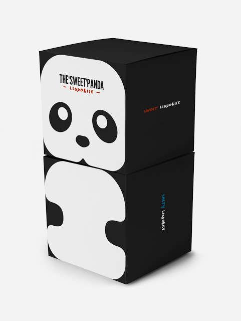 Bear-Faced Candy Branding - Panda Liquorice Packaging Has a Combined Cute and Minimalist Appeal (GALLERY)