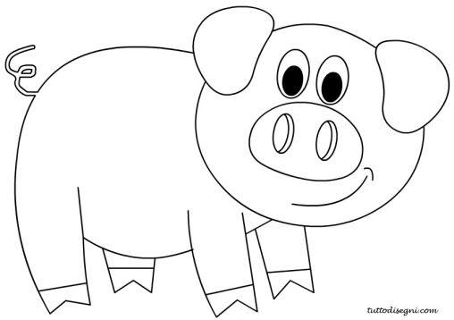 Disegni stilizzati cerca con google disegni for Maialino disegno per bambini