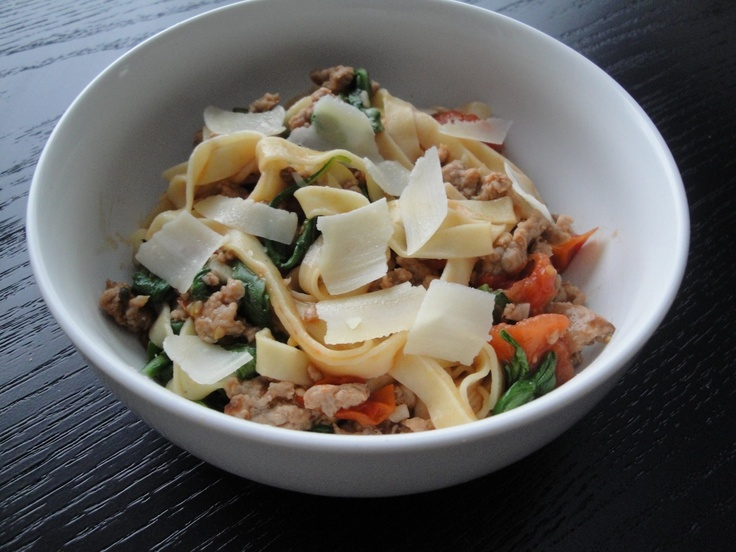 Our December 2011 Superfast Fan of the Month. Check out Shannon's take on our Sausage, Tomato, and Arugula Fettuccine.: Tomato, Veggie Sausage, Superfast Fans