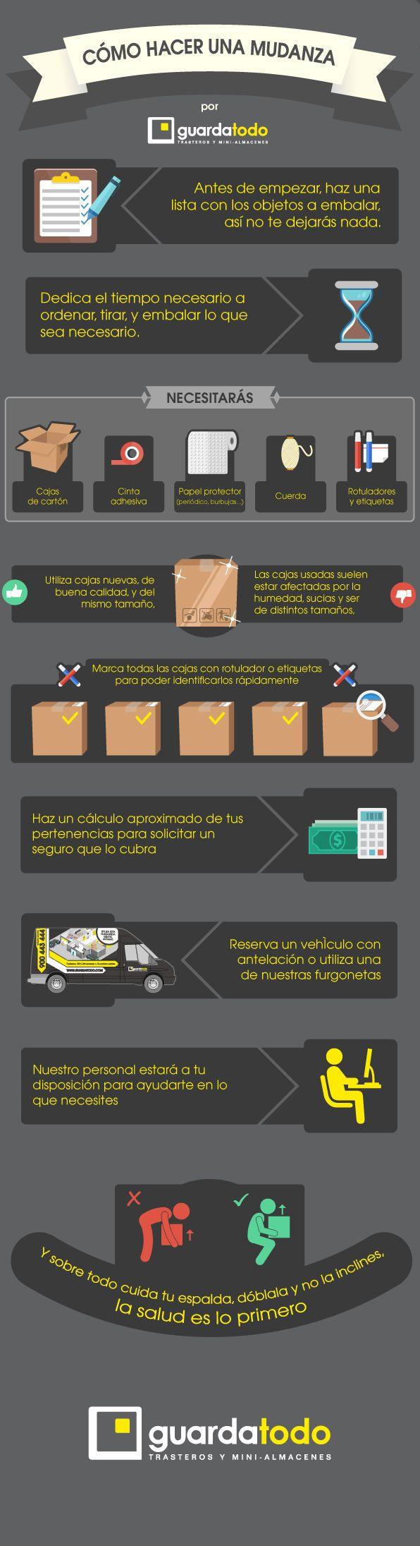 Consejos útiles de como preparar una mudanza antes de llevar los muebles y las cajas al guardamuebles