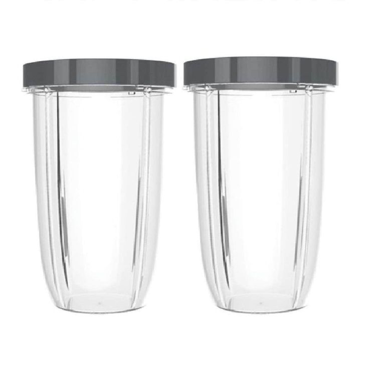 Blendin 2 Pack Extra Large Colossal 32 Ounce Cup with Lip Rings,Fits Nutribullet Blenders