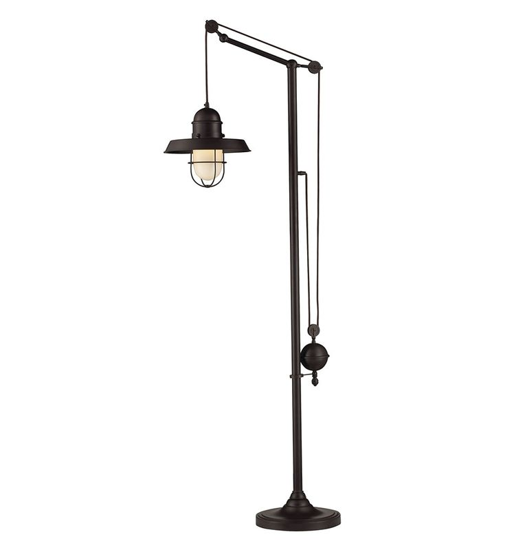 Oil rubbed bronze farmhouse floor lamp