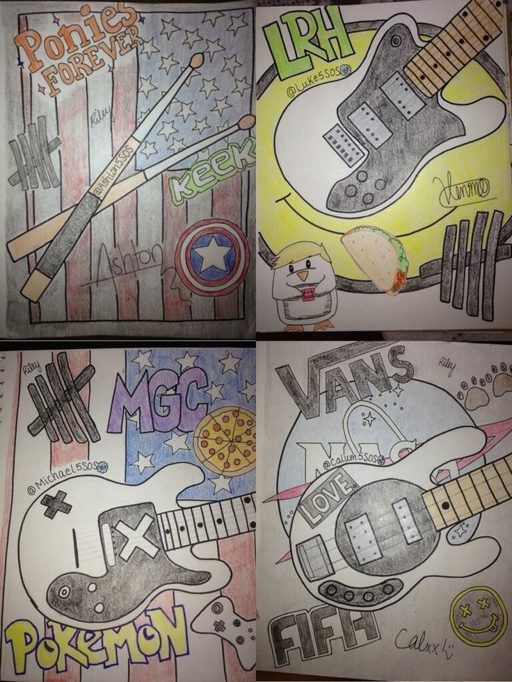 """5SOS drawings << This is awesome!! Challenge time!! Let's get all the lyrics to """"Heartbreak Girl"""" in the comments!! I'll start it off!! Xx Emma Jones"""