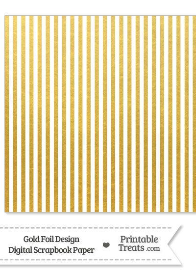 Gold Foil Stripes Digital Scrapbook Paper from PrintableTreats.com