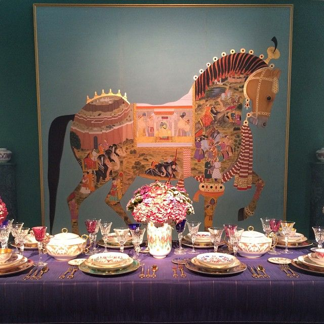 #Hermes feast setting. #diffa #diningbydesign #adhds2015