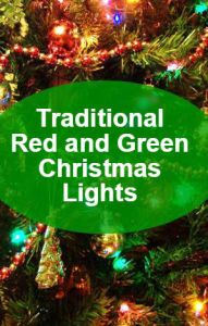 Traditional Colors Of Red And Green Christmas Lights