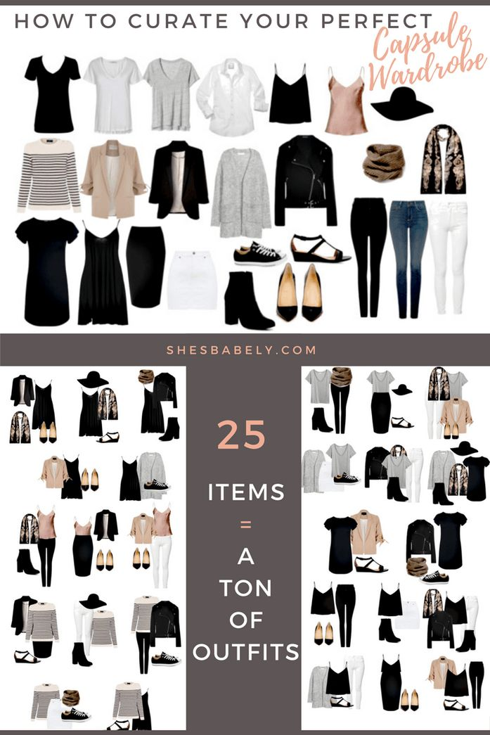Build A Capsule Wardrobe - Curate Your Capsule Wardrobe 2017 - Capsule Wardrobe Minimalist Women - Work - Workbook - Free Printables- Free EBook - Minimalism Organization Declutter | www.shesbabely.com