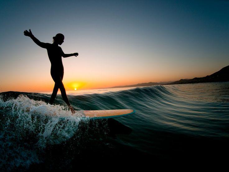 Crystal Thornburg side stepping during a Big Sur sunset - Chris Burkard Print