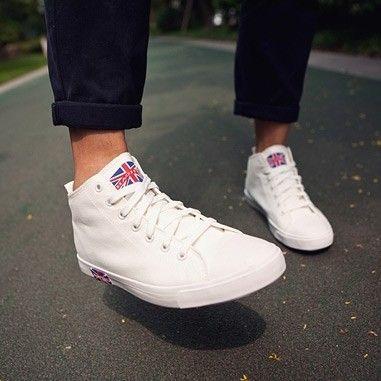 Англии мужские высокие обувь повседневная обувь холст обувь Юнион Джек британский флаг холст обувь, летняя обувь - Taobao