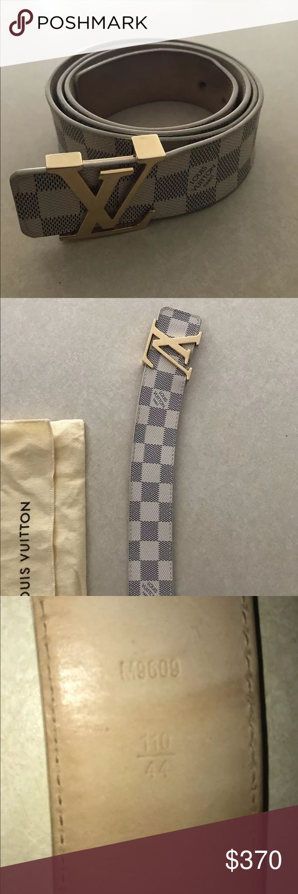 Authentic Louis Vuitton LV Initials Belt 100% Authentic 🔶 We are a very negotiable service 🔶 We provide overnight shipping and express shipping 🔶 Our transactions are made through third party applications 🔶 If you are interested in buying this product please contact us @ 201-496-0366 🔶 Louis Vuitton Accessories Belts