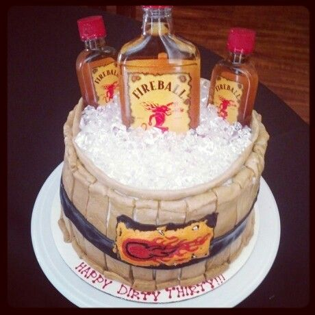 fireball liquor cake  Fire ball barrel keg**