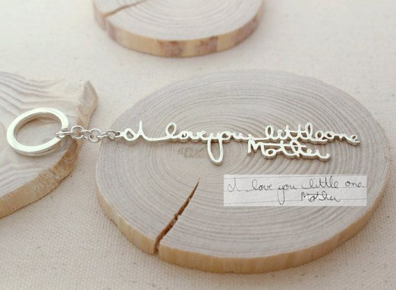 ♥ The most unique jewelry you can find, perfect gift for your loved one ♥ ♥ Signature Keychain is a perfect idea for a surprised gift for your