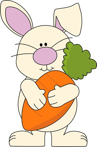Bunny with Giant Carrot