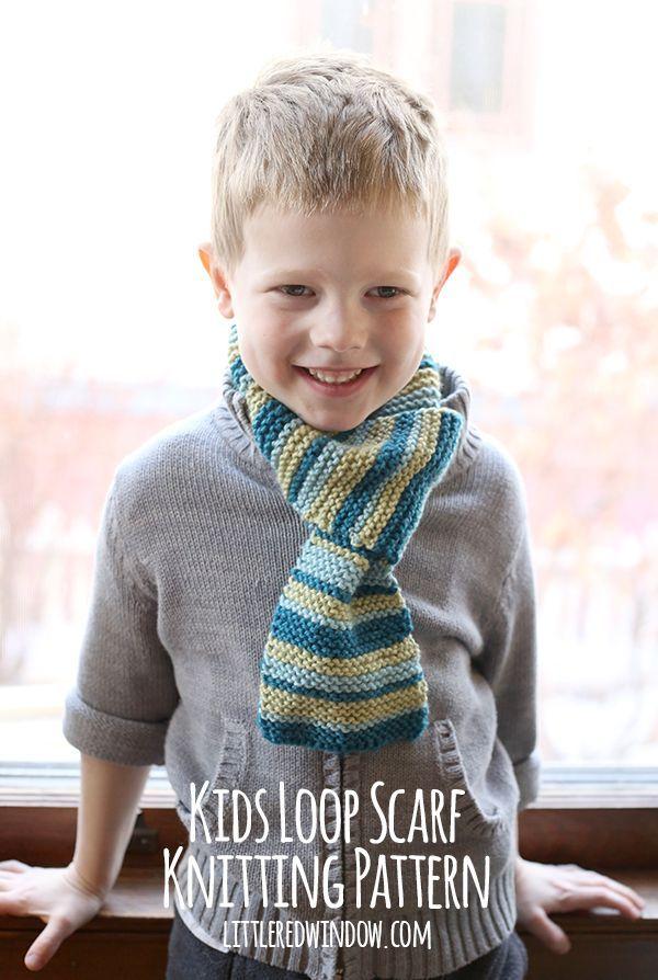 Kids Loop Scarf Knitting Pattern en 2018 | Πλεκτα | Pinterest | Dos ...