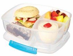 Triple Split Lunch Box z pojemnikiem na jogurt - Sistema Polska