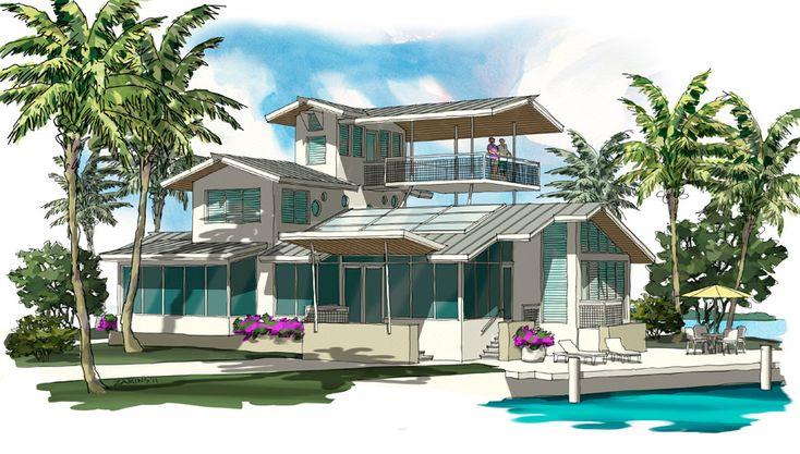A sustainable house in the Florida Keys.Keys Capture, Green Home, Ideas, Florida Home, House Illustration, Florida Keys, House Stuff, Keys Diseas, Ahhh Mi Keys