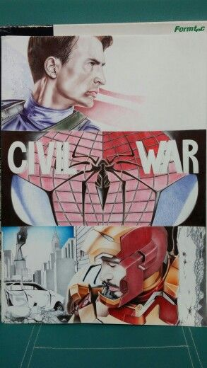 Captain America (CIVIL WAR) ballpoint pen art!
