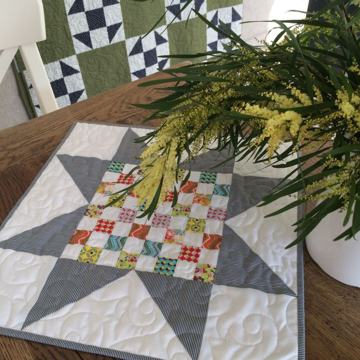 Leonie Bateman Created This Table Topper With Her Autumn Checkerboard Block  Pattern With Sue Daleyu0027s Bittersweet