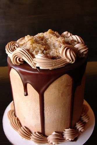 German Chocolate Cake. okay this looks amazing and i don't even like cake