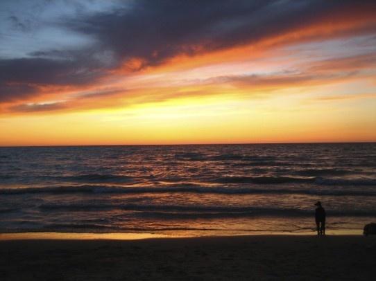 Grand Bend sunset, Lake Huron, ON, Canada