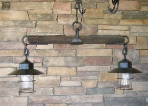 Western Lighting! This would be awesome over an outdoor bar.