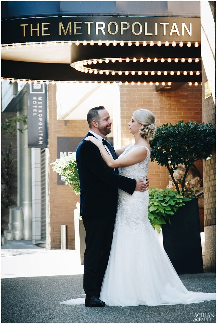 Vancouver Wedding Photography First Look at the Metropolitan Hotel