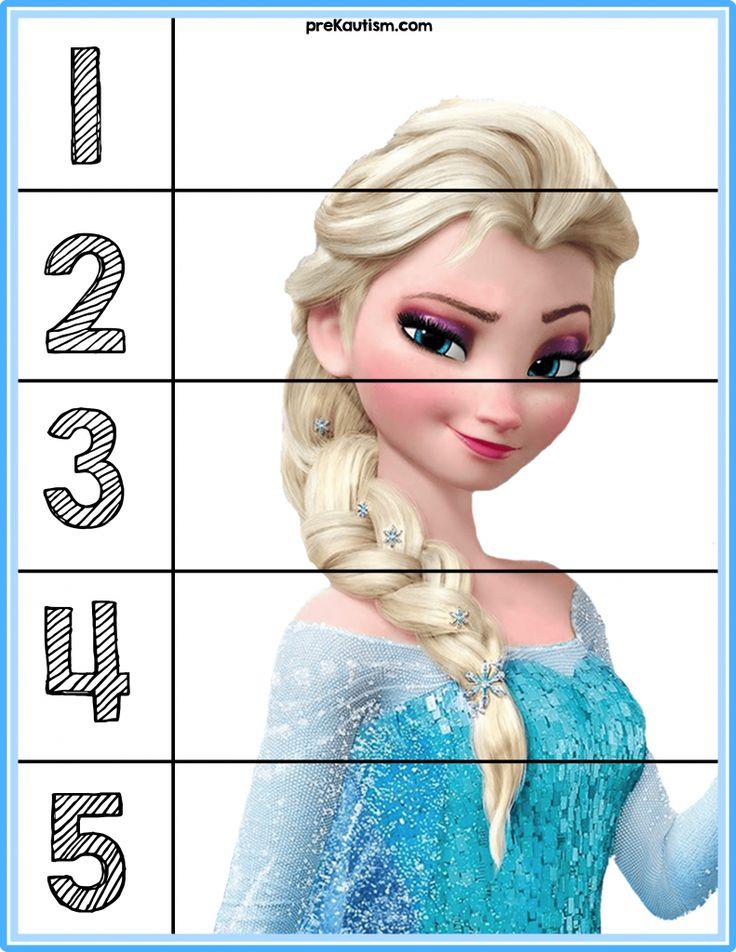FREE! Frozen #1-5 Puzzles - Autism & Education