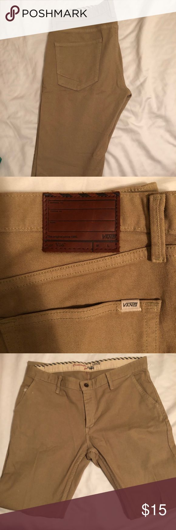 Vans V56 Chinos Tan chinos. Hardly worn. 34x32 Vans Pants Chinos & Khakis