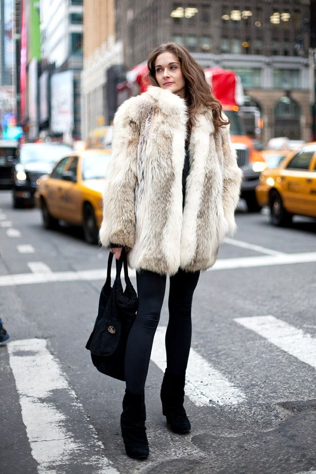 18 best Fur street style images on Pinterest